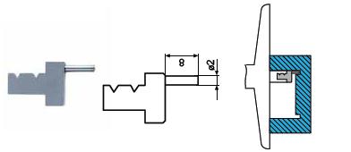 Końcówka pomiarowa do głębokościomierza Helios preisser 1279783