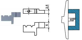 Końcówka pomiarowa do głębokościomierza Helios preisser 1279785
