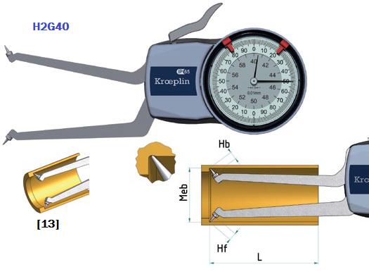 macki pomiarowe zegarowe do pomiarów wewnętrznych