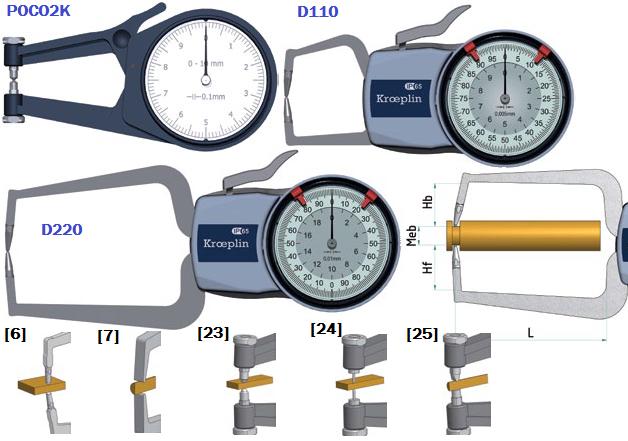 macki pomiarowe zegarowe do pomiarów zewnętrznych