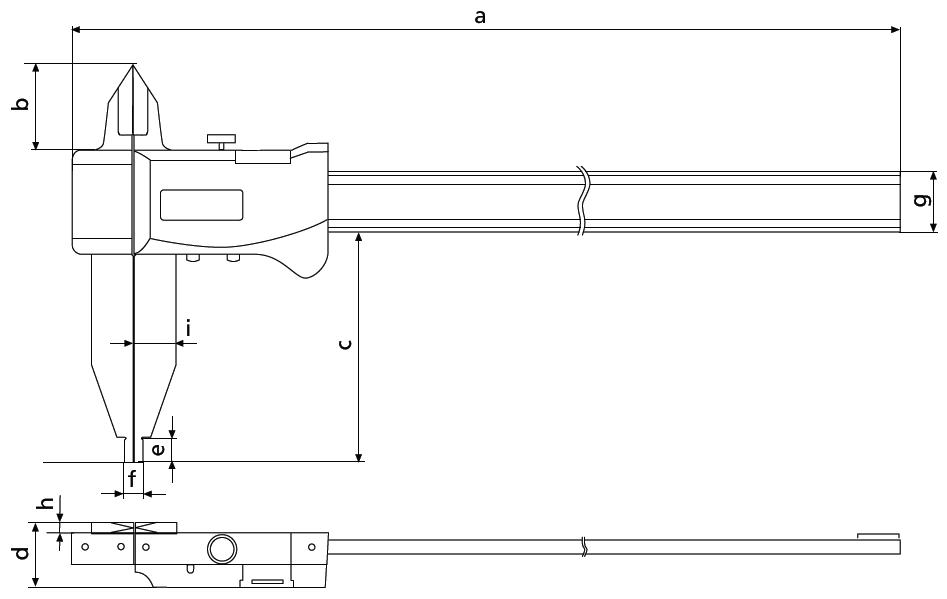 suwmiarka elektroniczna aluminiowa Helios Preisser wymiary