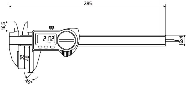 Suwmiarka specjalna Helios Preisser 1326912 wymiary