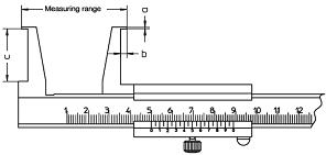 Suwmiarka specjalna Helios Preisser do pomiaru rowków wewnętrznych wymiary