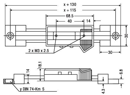Liniał poziomy Helios Preisser wymiary